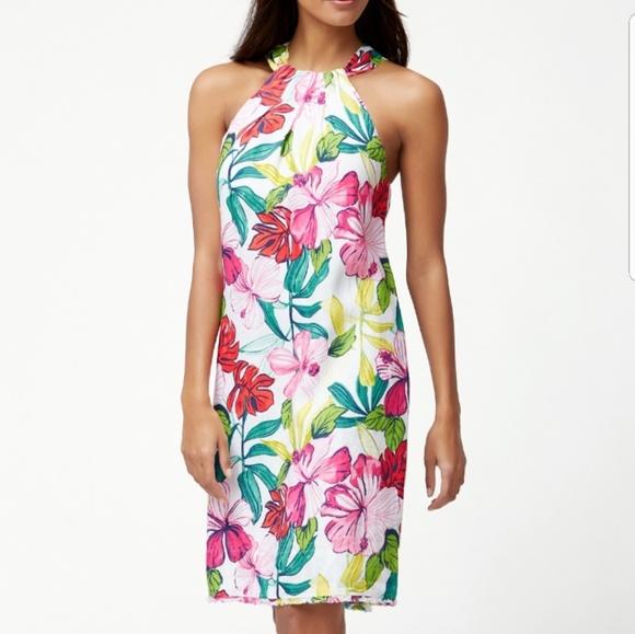 Tommy Bahama Dresses & Skirts - Tommy Bahama Floral Linen Halter Maxi Dress